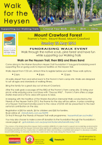 Walk for Warren: Mt Crawford Forest – 22nd May 2016