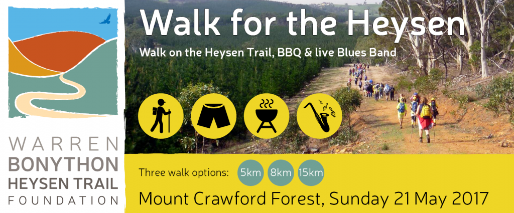 Walk for the Heysen: Mt Crawford Forest – 21st May 2017
